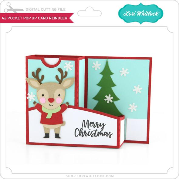 A2 Pocket Pop Up Card Reindeer