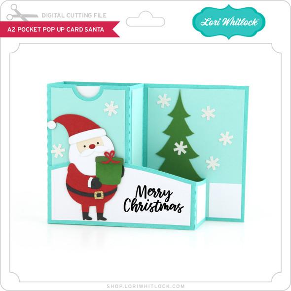 A2 Pocket Pop Up Card Santa
