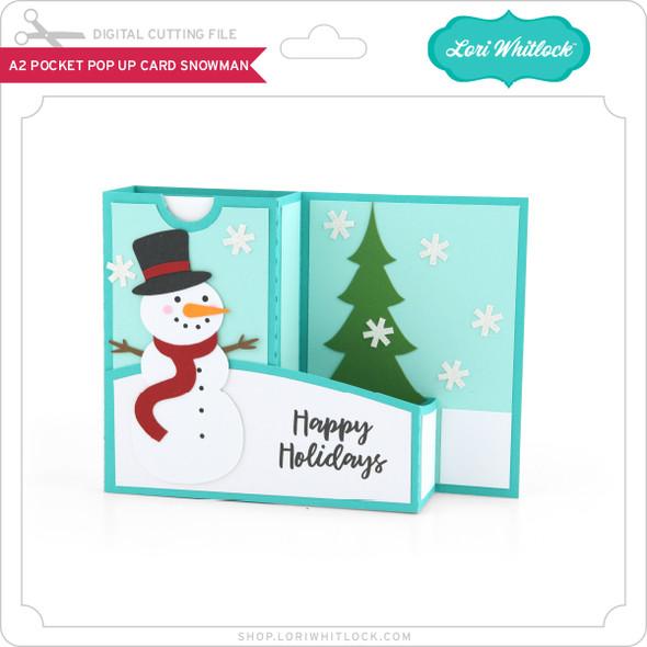 A2 Pocket Pop Up Card Snowman