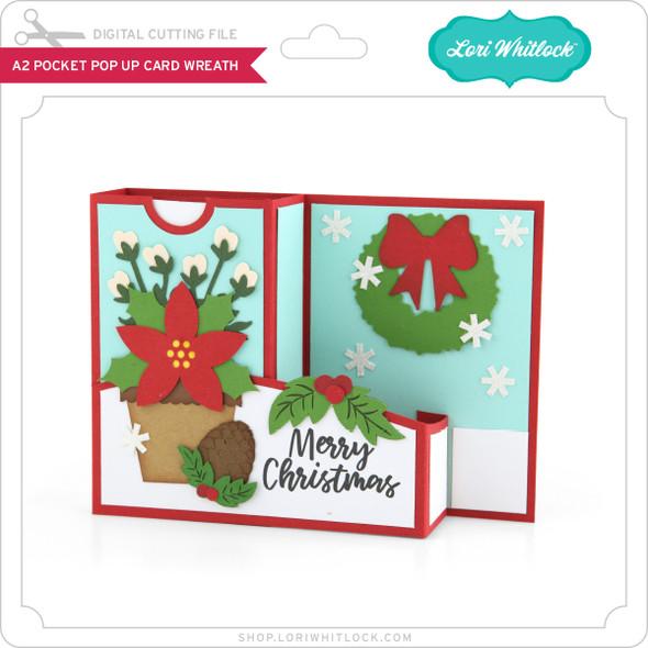 A2 Pocket Pop Up Card Wreath