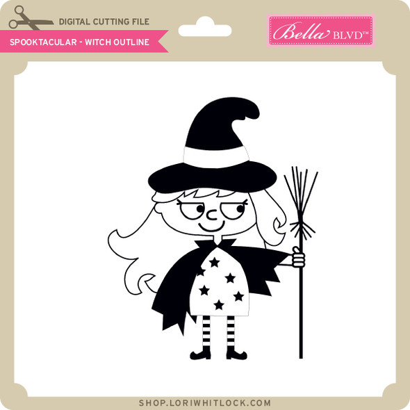 Spooktacular - Witch Outline