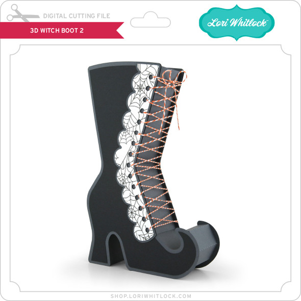 3D Witch Boot 2