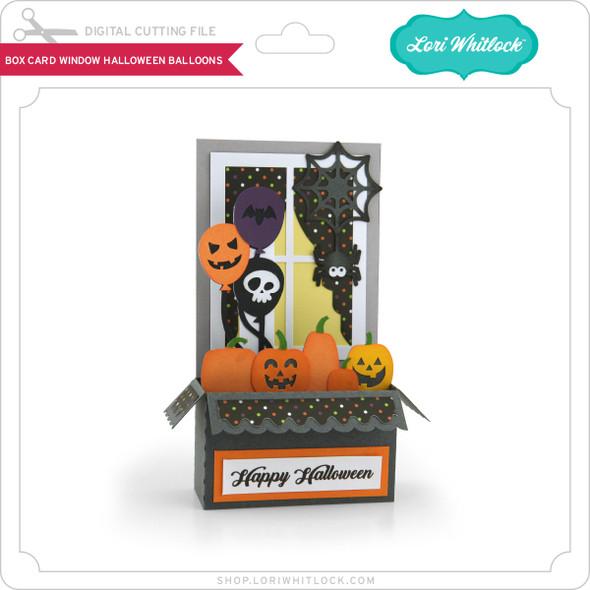 Box Card Window Halloween Balloons