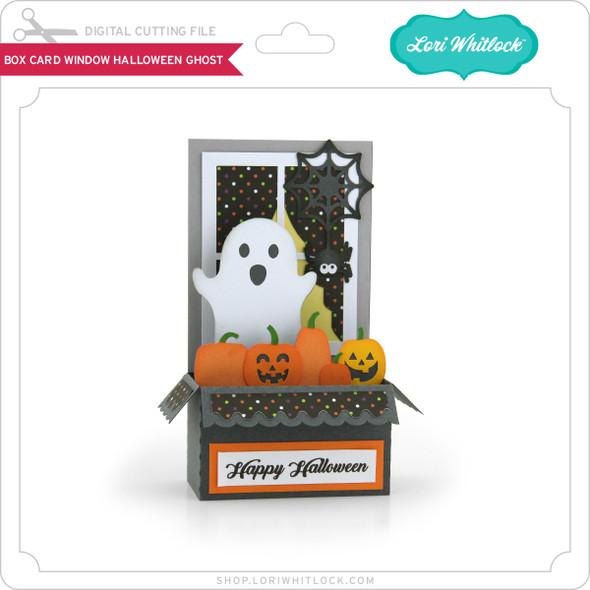 Box Card Window Halloween Ghost