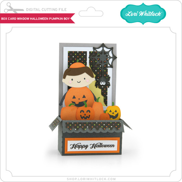 Box Card Window Halloween Pumpkin Boy