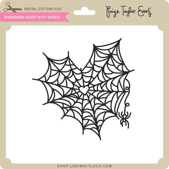 Spiderweb Heart with Spider