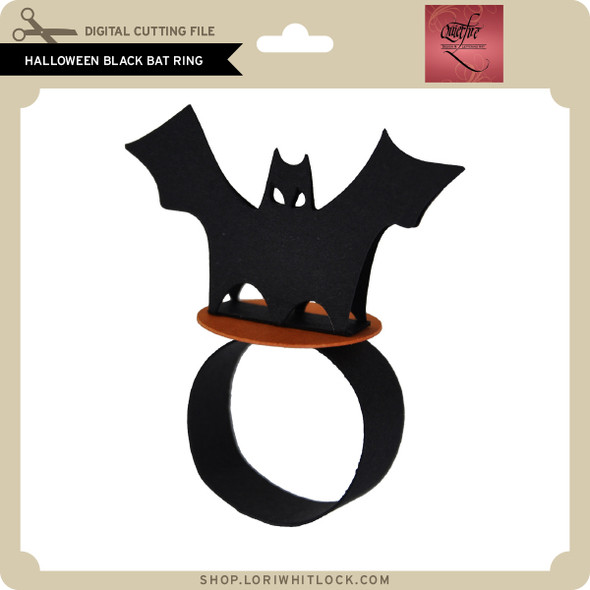 Halloween Black Bat Ring
