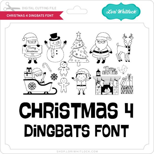 Christmas 4 Dingbats Font