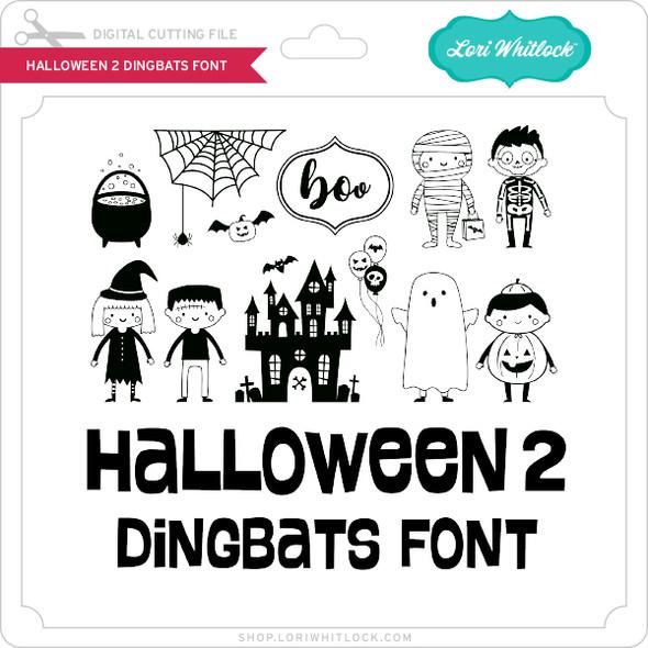 Halloween 2 Dingbats Font