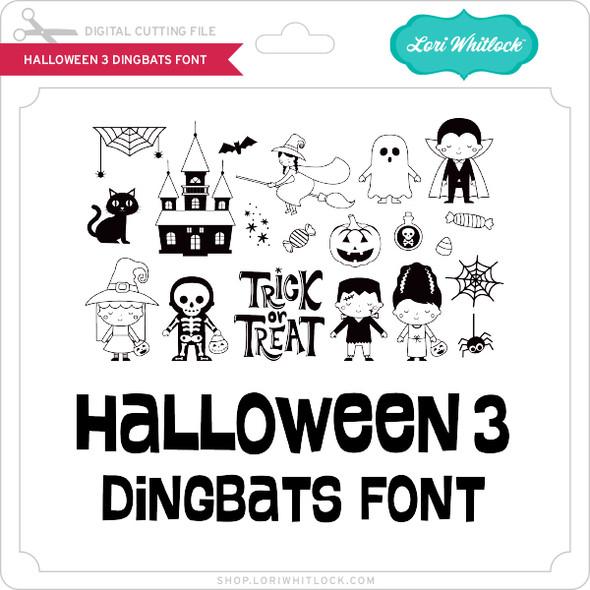 Halloween 3 Dingbats Font