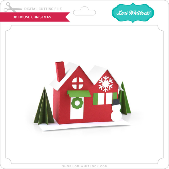 3D House Christmas