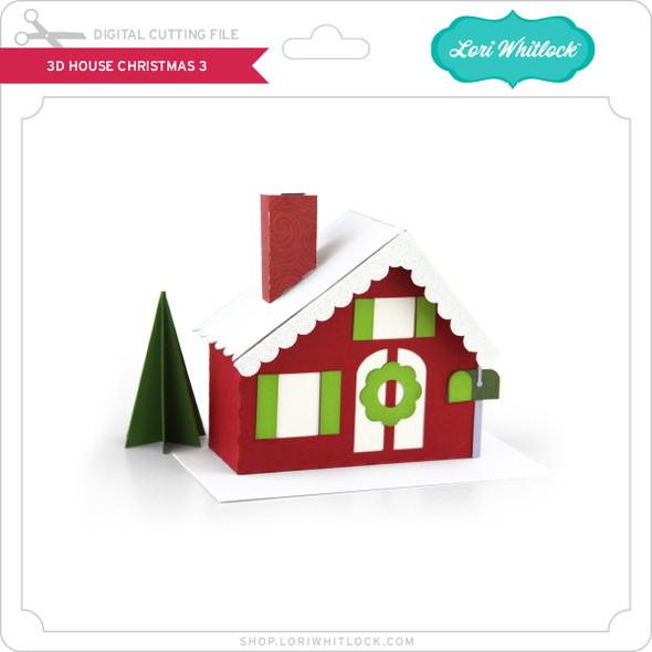 3D House Christmas 3