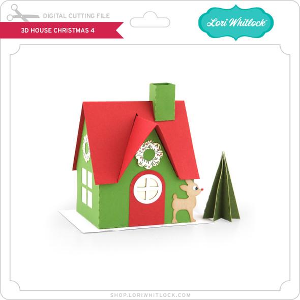 3D House Christmas 4