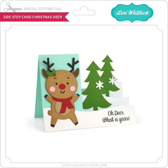 Side Step Card Christmas Deer