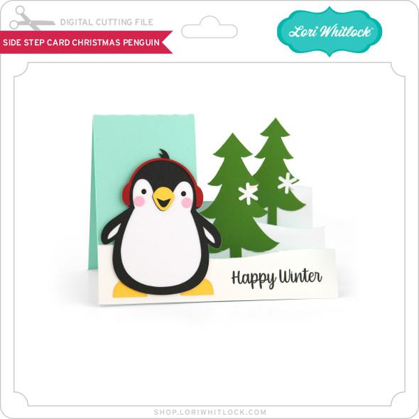 Side Step Card Christmas Penguin