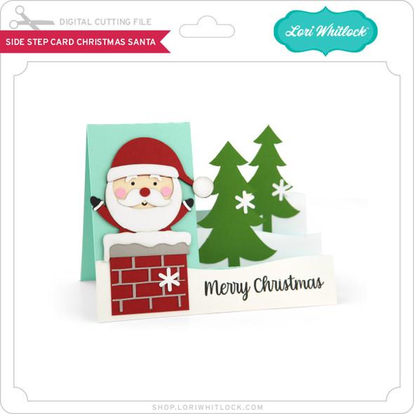 Side Step Card Christmas Santa