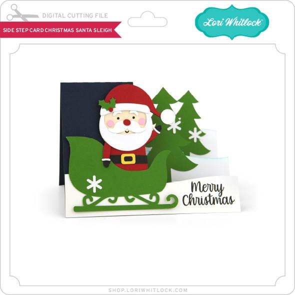 Side Step Card Christmas Santa Sleigh