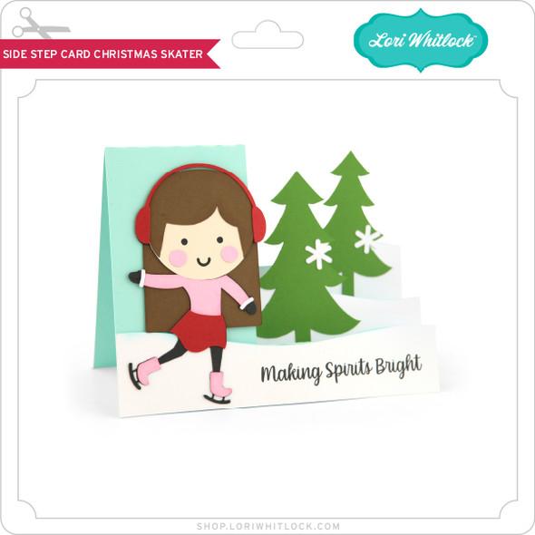 Side Step Card Christmas Skater