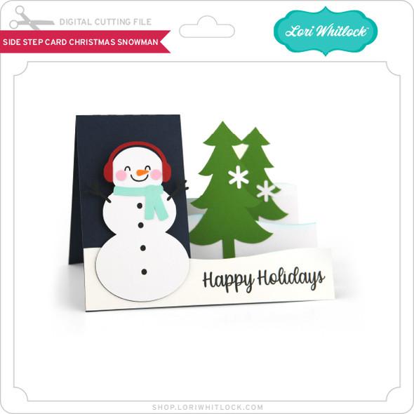 Side Step Card Christmas Snowman