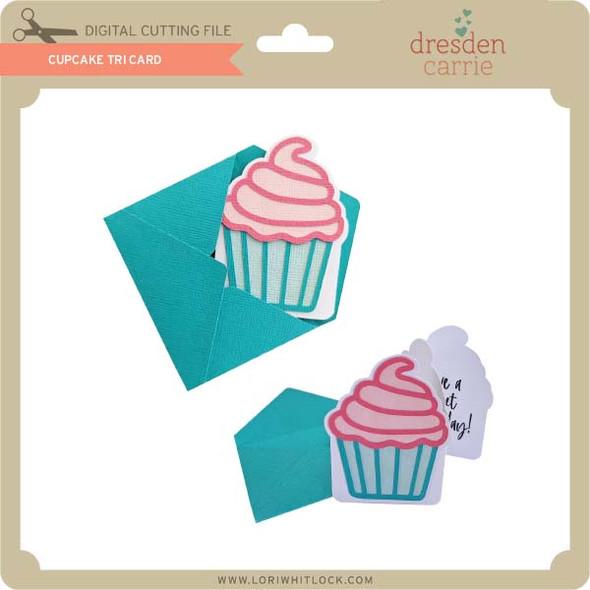 Cupcake Tri Fold Card