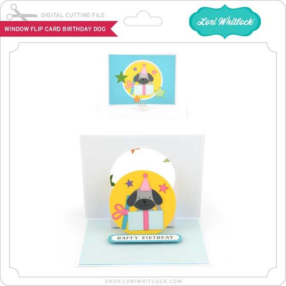 Window Flip Card Birthday Dog