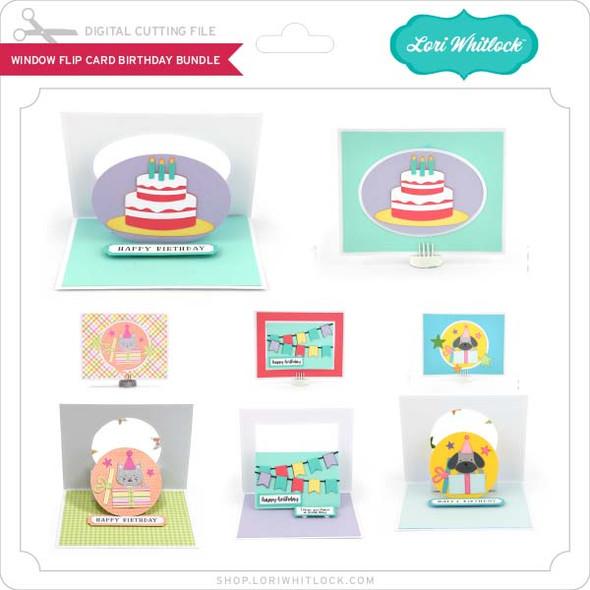 Window Flip Card Birthday Bundle