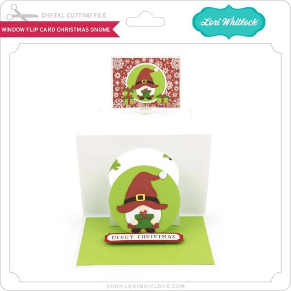 Window Flip Card Christmas Gnome