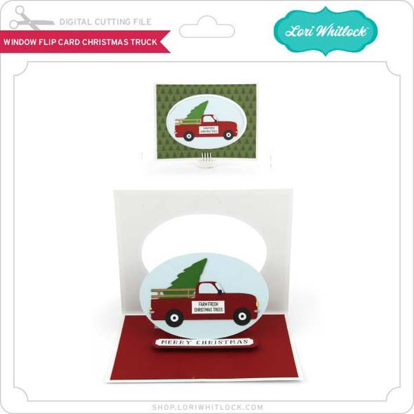 Window Flip Card Christmas Truck