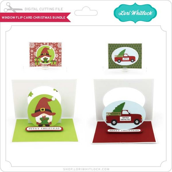 Window Flip Card Christmas Bundle