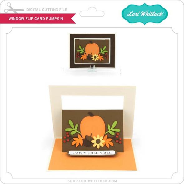 Window Flip Card Pumpkin