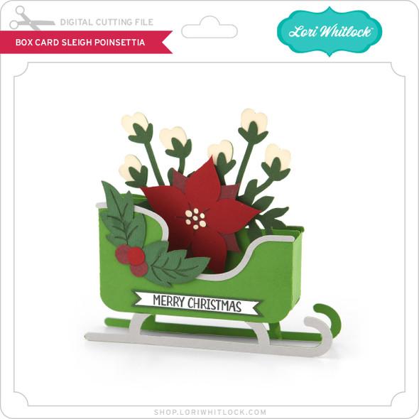 Box Card Sleigh Poinsettia