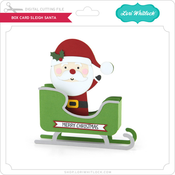 Box Card Sleigh Santa