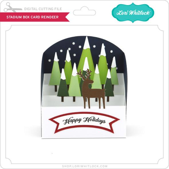 Stadium Box Card Reindeer