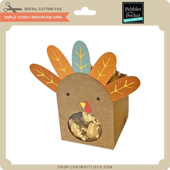 SImple Turkey Window Box Open