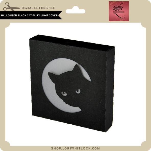 Halloween Black Cat Fairy Light Cover