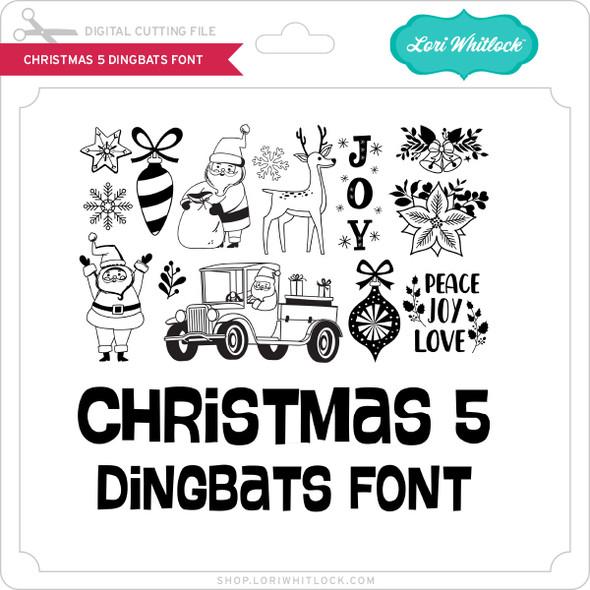 Christmas 5 Dingbats Font