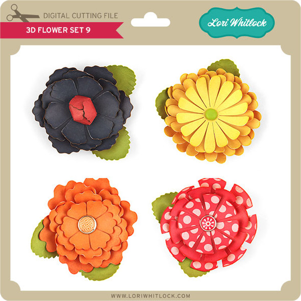 3D Flower Set 9