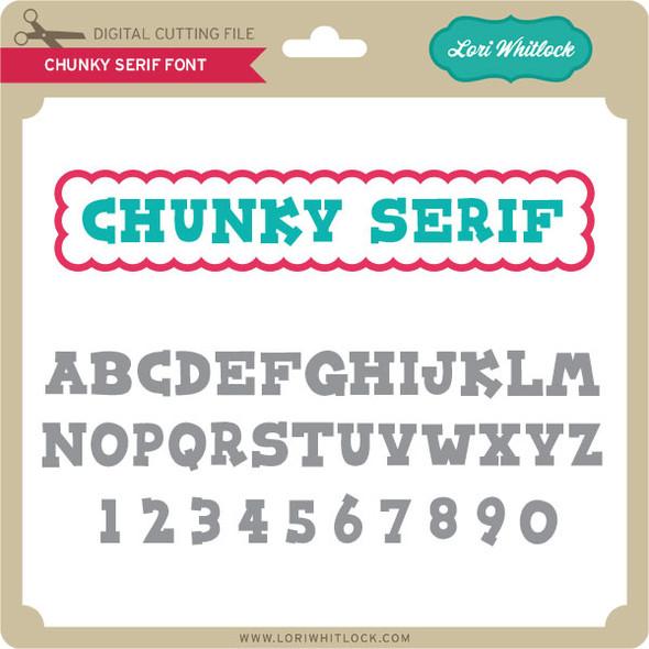 Chunky Serif Font