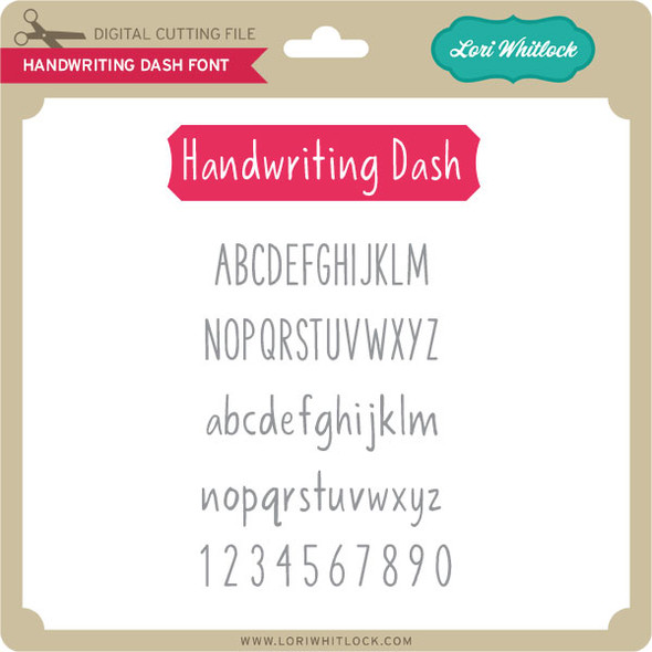 Handwriting Dash Font