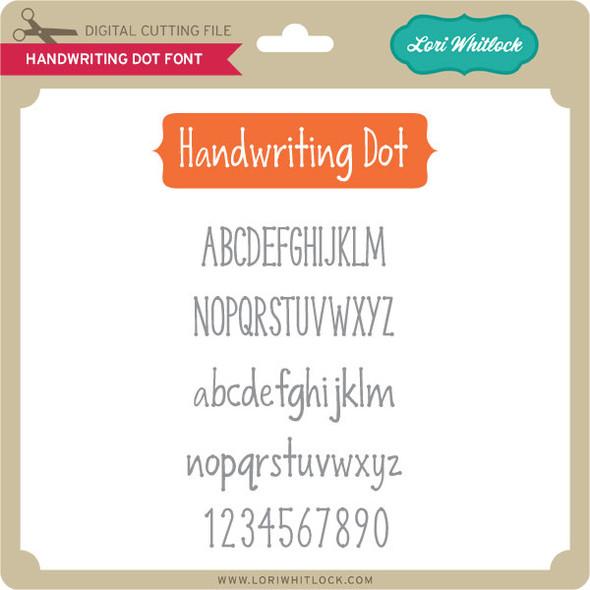 Handwriting Dot Font