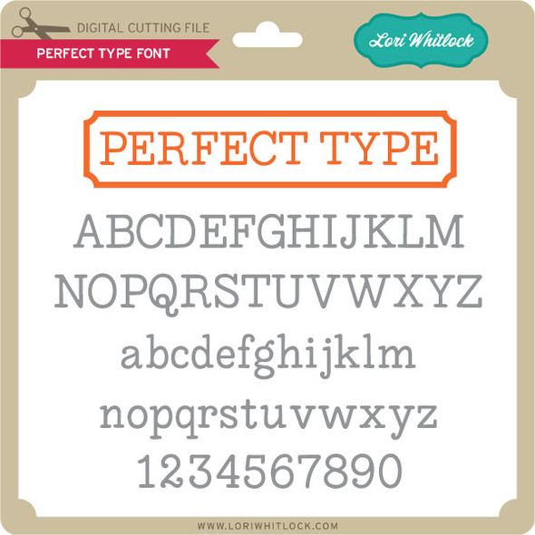Perfect Type Font