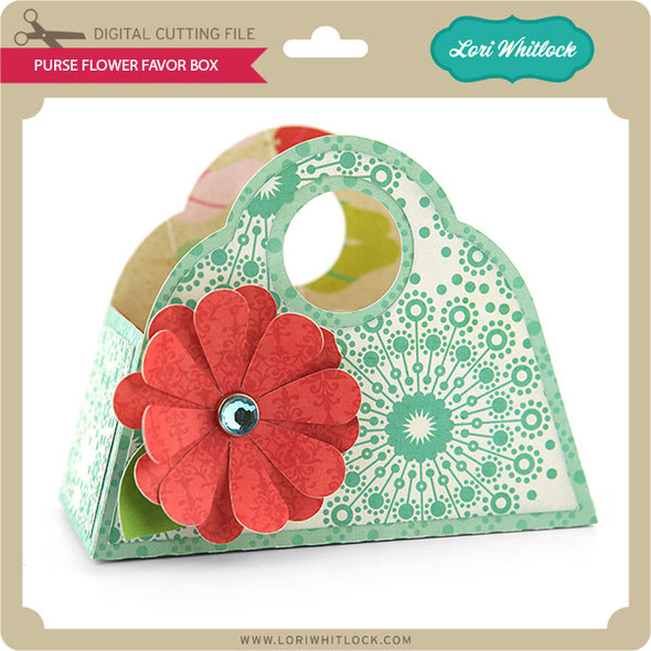 Purse Flower Favor Box