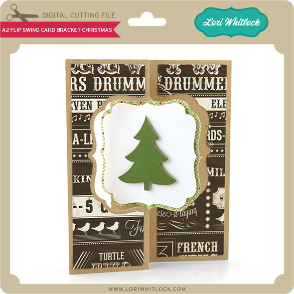 A2 Flip Swing Card Bracket Christmas