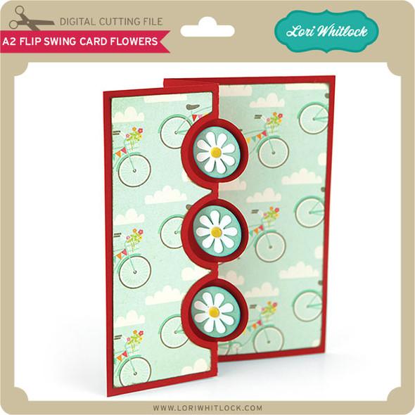 A2 Flip Swing Card Flowers