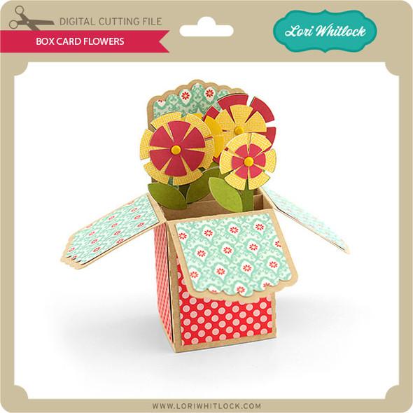 Box Card Flowers