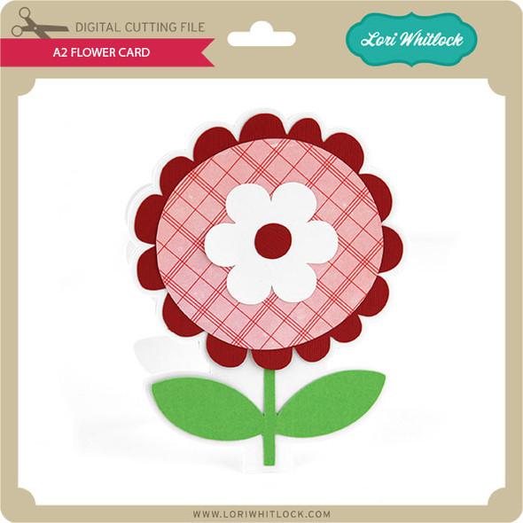 A2 Flower Card