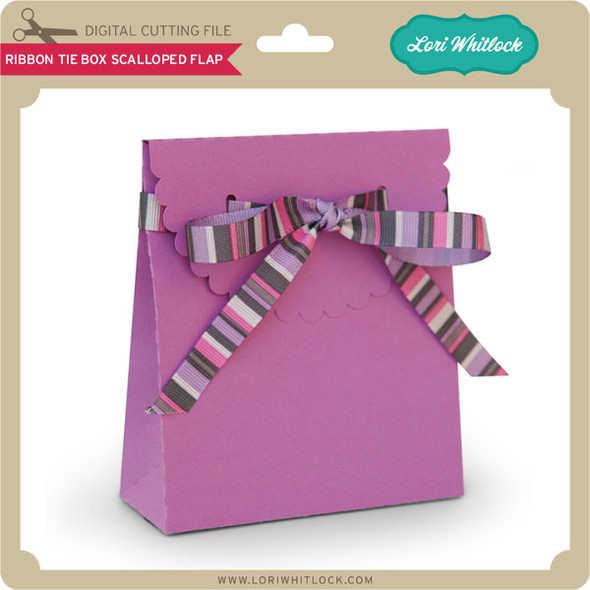 Ribbon Tie Box Scalloped Flap