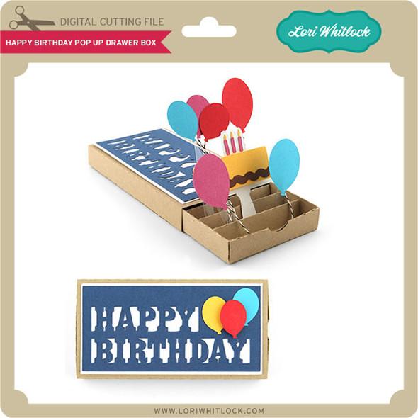 Happy Birthday Pop Up Drawer Box