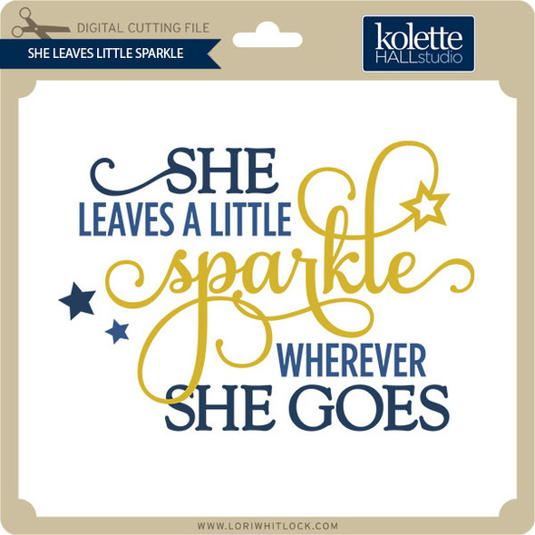 She Leaves Little Sparkle