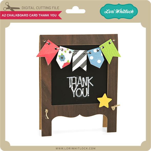 A2 Chalkboard Card Thank You